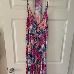 Rip curl water color floral maxi dress